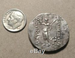 Bactria Indo-Greeks Antimachus I Silver Tetradrachm 15.8 Grams c. 174-165 BCE
