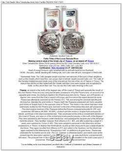 Celtic Celts Danube Silver Tetradrachm Greek Style Coin like THASOS NGC i72633