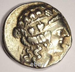 Danube Thasos Type AR Tetradrachm Dionysus Coin (100 BC) Very Fine (VF)