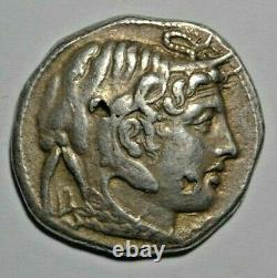 Egypt Ptolemy I as satrap, tetradrachm c. 310 BC, Alexander right/Athena
