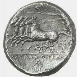 GREEK coin Syracuse AR Tetradrachm / Agathokles, 310-305 BC Arethusa EX KÜNKER