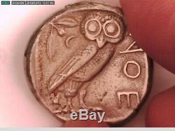 Greece Greek Attica Athens Tetradrachm Silver Owl Athena Coin Graduation Wisdom