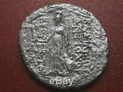 Greek Syria, Antiochus VII Euergetes Athena silver Tetradrachm (92MP)