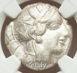 IRRIDESCENT SILVER Attica Athens AR Tetradrachm 440-04 BC NGC Choice VF 4/5 3/5