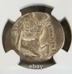Ionia, Ephesus Tetradrachm Bee Coin NGC VF Ancient Silver Coin