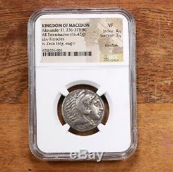 Kingdom Of Macedon Alexander III 336-323 BC obv Heracles rv Zeus NGC VF 4/5 3/5