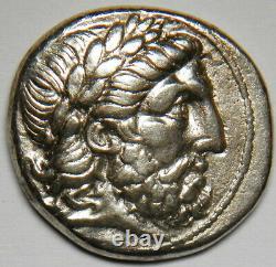 Kingdom of Macedon Philip II AR tetradrachm 359-336 BC (Amphipolis) gVF