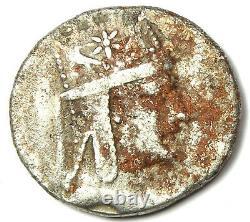 Kings of Armenia Tigranes II AR Tetradrachm Coin 80-68 BC VF (Corrosion)