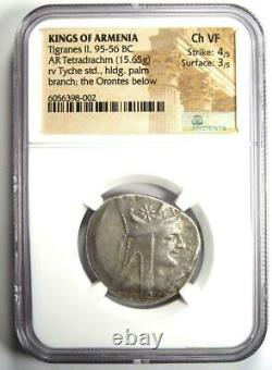 Kings of Armenia Tigranes II AR Tetradrachm Coin 95-56 BC NGC Choice VF