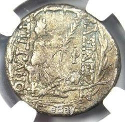 Kings of Armenia Tigranes II AR Tetradrachm Coin 95-56 BC Tyche NGC Choice VF