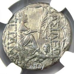 Kings of Armenia Tigranes II AR Tetradrachm Coin 95-56 BC Tyche NGC Choice XF