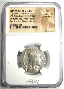 Kings of Armenia Tigranes II AR Tetradrachm Coin 95-56 BC Tyche NGC XF (EF)