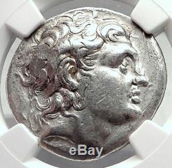 LYSIMACHOS Silver Greek Tetradrachm Coin w ALEXANDER III the GREAT NGC i73060