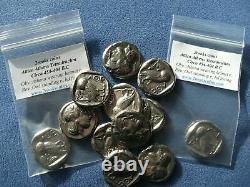 Lot Of 20 Coins Greek Greece Attica Athens Tetradrachm Silver Plate Owl Athena