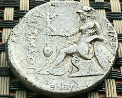 Lysimachos, King Of Thrace 305-281 Bc Ar Tetradrachm Alexander III & Athena