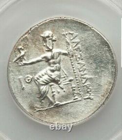 Macedon Alexander The Great Tetradrachm Perga Mint ANACS AU50 Ancient Silver