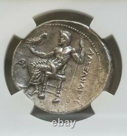 Macedon, Alexander the Great Tetradrachm NGC MS 5/2 Ancient Silver coin