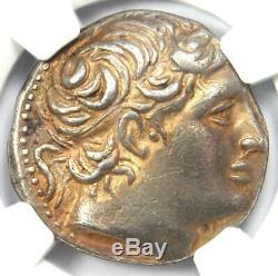 Macedon Demetrius I Poliorcetes AR Tetradrachm Coin 306-283 BC NGC Choice XF