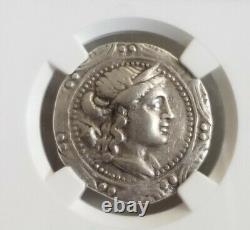 Macedon Under Rome Tetradrachm Artemis NGC VF Ancient Silver Coin