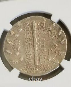 Macedon Under Rome Tetradrachm Artemis NGC XF 4/4 Ancient Silver Coin