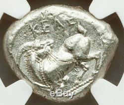 NGC Certified Cilicia Celenderis 425-350 BC, AR stater, Choice AU 3/5 4/5 BRITE