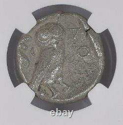 NGC Greek Silver Tetradrachm ATHENS, Owl & Athena, 5th Century BC, VERY FINE