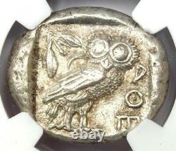 Near East / Egypt Athena Owl Athens Tetradrachm Coin (400 BC) Certified NGC AU