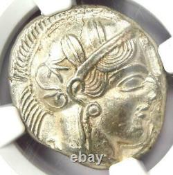 Near East / Egypt Athena Owl Athens Tetradrachm Coin (400 BC) NGC AU, Test Cut