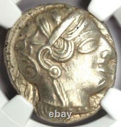 Near East / Egypt Athena Owl Athens Tetradrachm Silver Coin (400 BC) NGC AU
