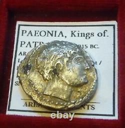 PAEONIA, PATRAOS AR Tetradrachm 335-315 BC. Apollo Warrior spearing enemy