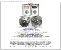 PTOLEMY II Philadelphos Egypt Ancient Silver Greek Tetradrachm Coin NGC i73054