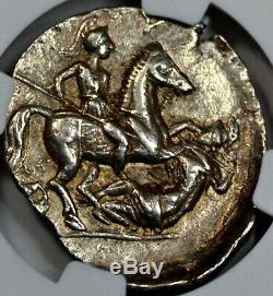 Paeonia, Patraus Silver Tetradrachm (335-315 BC) NGC Choice XF 4/5 5/5