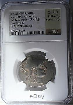 Pamphylia, Side 2nd-1st Centuries BC AR Tetradrachm 16.16 gr. Choice XF (Star)