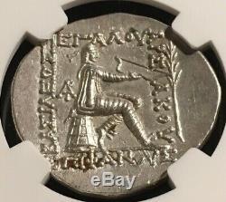 Parthian Kingdom Mithradates II 121-91 Bc Ar Tetradrachm Ngc Au 5/4 Arsaces Bow