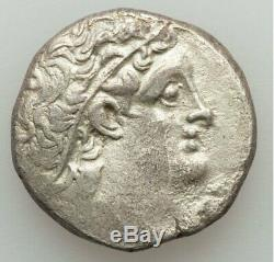 Ptolemaic Egypt Cleopatra III & Ptolemy X 107-101 BC AR Tetradrachm Alexandria