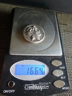 RARE! AR Tetradrachm 297-281 BC Kings of Thrace, Lysimachos Silver Coin 16.64 g