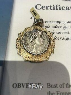 Rare Authentic Certified Gold cased Ancient Roman Silver Tetradrachm 1/2 BC
