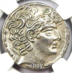 Roman Antioch Philip I Philadelphus A. Gabinius AR Tetradrachm 57 BC NGC AU