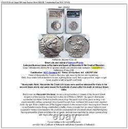 SAMOS Greek Island Off Ionia Ancient Silver GREEK Tetradrachm Coin NGC i85682