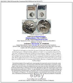 SELEUKOS I NIKATOR Ancient Silver Tetradrachm SELEUKID Greek Coin NGC i84771