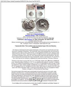 SELEUKOS I Nikator Seleukid Tetradrachm ELEPHANTS Silver Greek Coin NGC i68725
