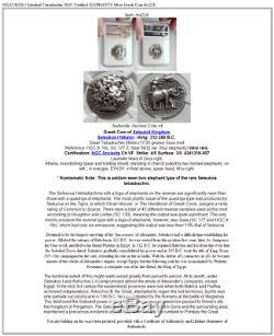 SELEUKOS I Seleukid Tetradrachm NGC Certified ELEPHANTS Silver Greek Coin i64228