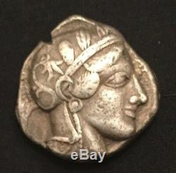Sammler Antik Griechische Eule Münze Tetradrachme Antique Greek Owl coin Silver