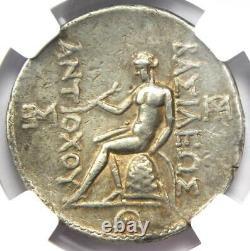 Seleucid Antiochus III AR Tetradrachm Apollo Coin 222-187 BC NGC Choice VF