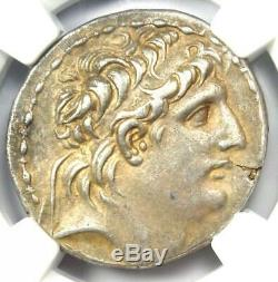Seleucid Antiochus VII AR Tetradrachm Coin 138-129 BC Certified NGC Choice XF