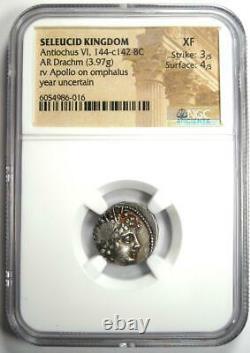 Seleucid Antiochus VI Infant King AR Drachm Coin 144-142 BC Certified NGC XF