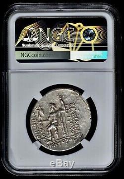 Seleucid Kingdom Antiochos IV Antiochus Epiphanes 175 BC AR Tetradrachm NGC XF