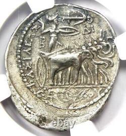 Seleucus I Zeus and Elephant AR Tetradrachm 312-281 BC Certified NGC Choice VF