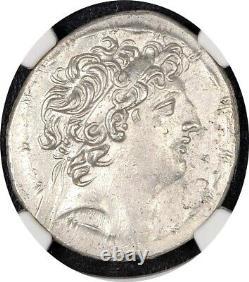Seleukid Antiochos VIII NGC Ch AU 5/5 3/5 Epiphanes AR Tetradrachm 34.2mm 038