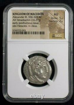 Silver Tetradrachm of Alexander III The Great, 336-323 BC NGC AU 2003